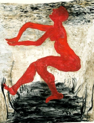 Red Woman Dancing